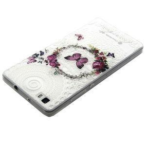 Transparentní gelový obal na Huawei Ascend P8 Lite - motýlek - 3