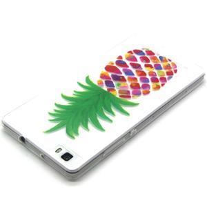 Transparentné gélový obal na Huawei Ascend P8 Lite - ananás - 3