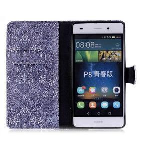 Puzdro na mobil Huawei P8 Lite - textury květin - 3