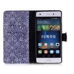Puzdro na mobil Huawei P8 Lite - textury květin - 3/7