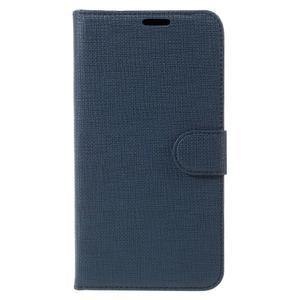 Clothy PU kožené pouzdro na Huawei Mate 8 - tmavěmodré - 3