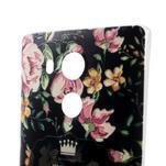 Softy gelový obal na mobil Huawei Mate 8 - květiny na černé pozadí - 3/6