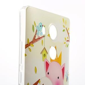 Softy gelový obal na mobil Huawei Mate 8 - zamilované prasátko - 3