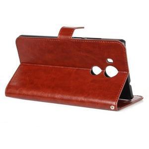 Peňaženkové puzdro na Huawei Mate 8 - hnedé - 3