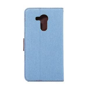 Jeans PU kožené pouzdro na mobil Huawei Mate 8 - světlemodré - 3