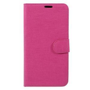Clothy PU kožené puzdro na Huawei Mate 8 - rose - 3