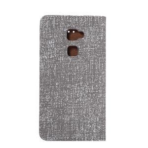 Style knížkové pouzdro na mobil Huawei Mate S - šedé - 3