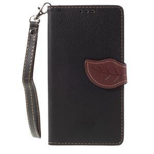 Knižkové PU kožené puzdro na mobil Huawei Mate S - čierne - 3