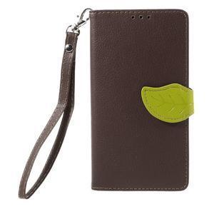 Knižkové PU kožené puzdro na mobil Huawei Mate S - hnedé - 3