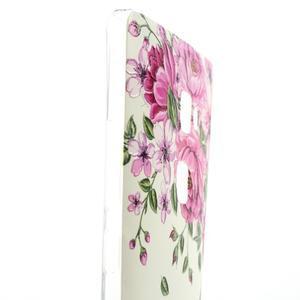 Softy gelový obal na mobil Huawei Mate S - růže - 3