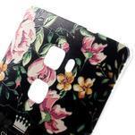 Softy gelový obal na mobil Huawei Mate S - květiny na černém pozadí - 3/4