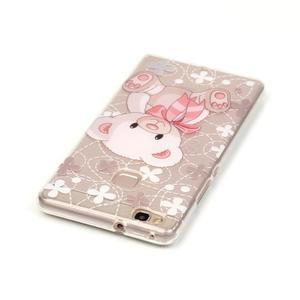 Průhledný gelový obal na mobil Huawei P9 Lite - medvídek - 3