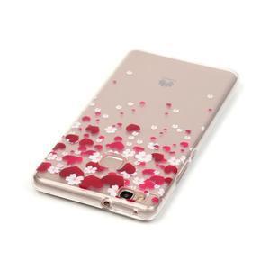 Průhledný gelový obal na mobil Huawei P9 Lite - srdíčka - 3