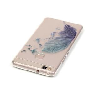 Průhledný gelový obal na mobil Huawei P9 Lite - peříčko - 3