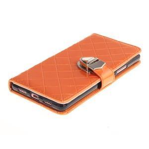 Luxury PU kožené peňaženkové puzdro na Huawei P9 Lite - oranžové - 3