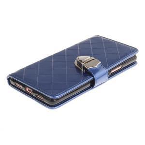 Luxury PU kožené peněženkové pouzdro na Huawei P9 Lite - modré - 3