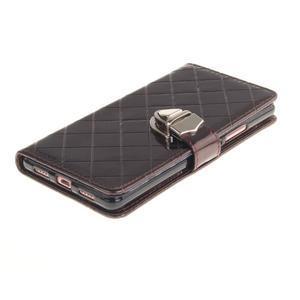 Luxury PU kožené peněženkové pouzdro na Huawei P9 Lite - coffee - 3