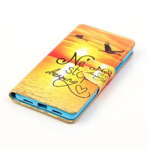Patter PU kožené puzdro na mobil Huawei P9 Lite - neprestávaj snívať - 3