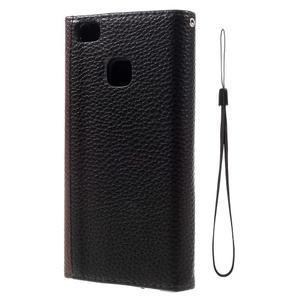Penženkové pouzdro na mobil Huawei P9 Lite - hnědé/černé - 3