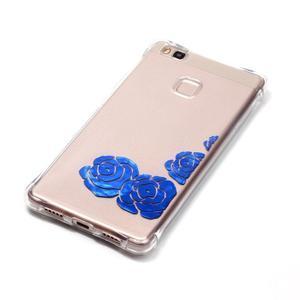 Lacqe geový obal na Huawei P9 Lite - modré růže - 3