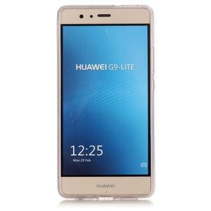 Gradient třpitivý gelový obal na Huawei P9 Lite - šedý - 3