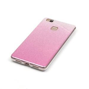 Gradient třpitivý gelový obal na Huawei P9 Lite - růžový - 3