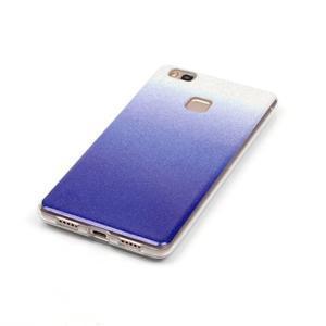 Gradient třpitivý gelový obal na Huawei P9 Lite - tmavěmodrý - 3