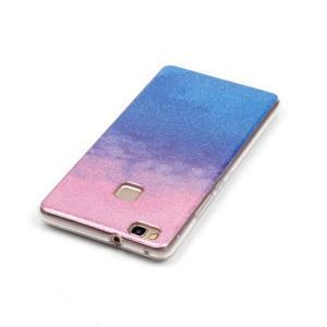 Gradient třpitivý gelový obal na Huawei P9 Lite - růžový/modrý - 3