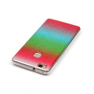 Gradient třpitivý gelový obal na Huawei P9 Lite - mix barev I - 3