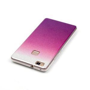 Gradient třpitivý gelový obal na Huawei P9 Lite - stříbrný/fialový - 3