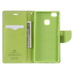 Diary PU kožené puzdro na telefon Huawei P9 Lite - tmavomodré - 3