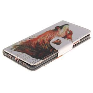 Lethy knížkové pouzdro na telefon Huawei P9 Lite - mýtický vlk - 3