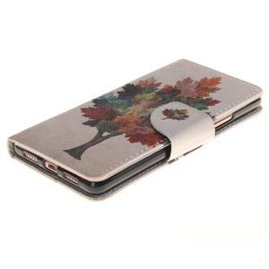 Lethy knížkové pouzdro na telefon Huawei P9 Lite - podzimní strom - 3