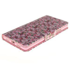 Lethy knižkové puzdro na telefon Huawei P9 Lite - koláž ruží - 3