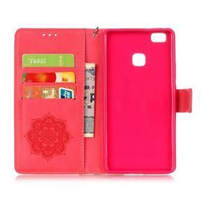 Dreaming PU kožené pouzdro na Huawei P9 Lite - červené - 3