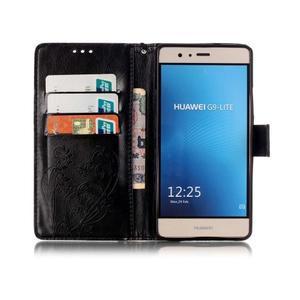 Magicfly knižkové puzdro na telefon Huawei P9 Lite - čierne - 3