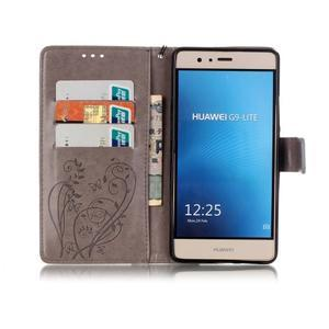 Magicfly knížkové pouzdro na telefon Huawei P9 Lite - šedé - 3