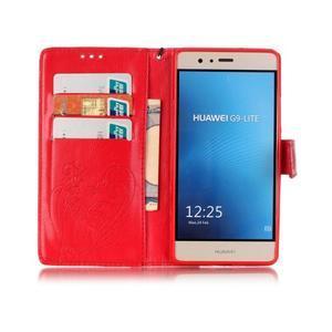 Magicfly knížkové pouzdro na telefon Huawei P9 Lite - červené - 3