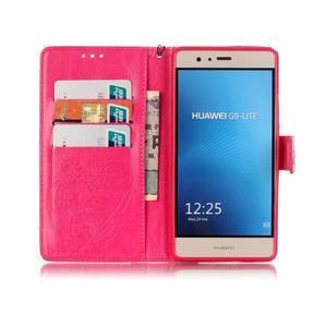 Magicfly knižkové puzdro na telefon Huawei P9 Lite - rose - 3