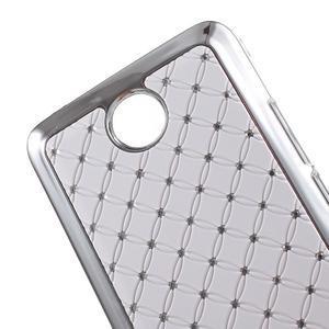 Drahokamový kryt na Huawei Y635 - biely - 3