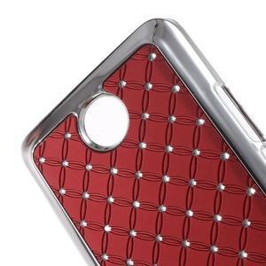 Drahokamový kryt na Huawei Y635 - červený - 3
