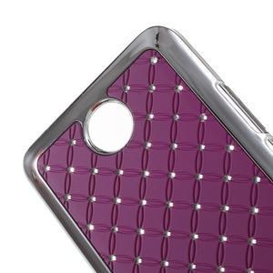 Drahokamový kryt na Huawei Y635 - fialový - 3