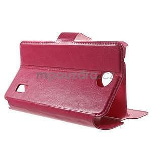 Rose kožené puzdro na Huawei Y635 - 3