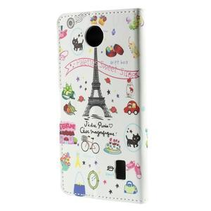Peňaženkové puzdro Huawei Y635 - Eiffelova veža - 3