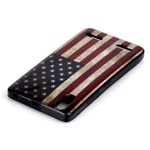 Jelly gélový obal pre mobil Lenovo A6000 - US vlajka - 3