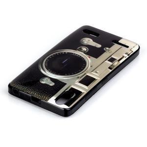 Jelly gélový obal pre mobil Lenovo A6000 - retro foťák - 3