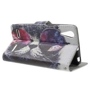 Emotive peňaženkové puzdro pre mobil Lenovo A6000 - cool mačka - 3