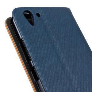Klopové pouzdro na Lenovo Vibe K5 / K5 Plus - modré - 3