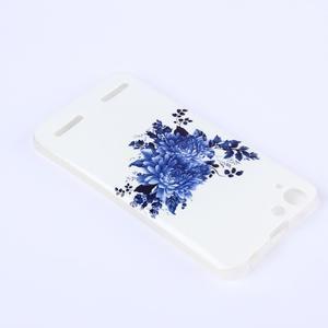 Softy gélový obal pre mobil Lenovo Vibe K5 / K5 Plus - modré kvetiny - 3