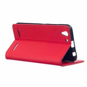 Peněženkové pouzdro na Lenovo Vibe K5 / K5 Plus - červené - 3